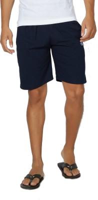 Alan Jones Solid Men,s Dark Blue Bermuda Shorts, Gym Shorts, Night Shorts, Beach Shorts, Running Shorts, Sports Shorts