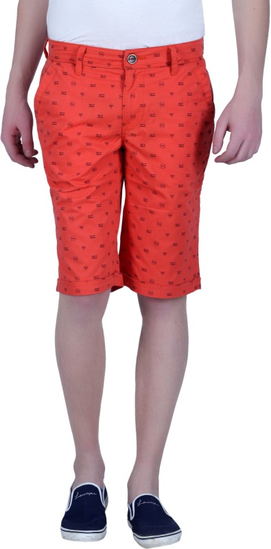 LAWMAN Pg3 Printed Men's Orange Chino Shorts