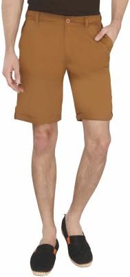 AVOQ-Style Reboot Solid Men's Brown Basic Shorts