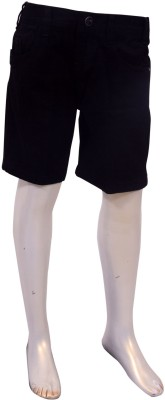 Puppet Nx Solid Boy's Black Basic Shorts