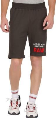 GUTS N GLORY Printed Men's Grey Sports Shorts