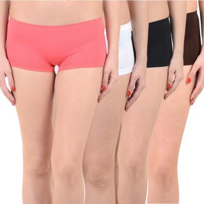 Mynte Solid Women's Red, White, Black, Brown Cycling Shorts, Gym Shorts, Swim Shorts