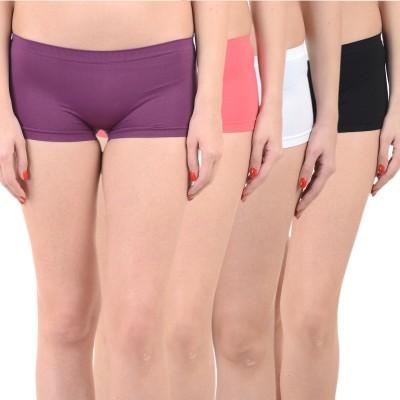 Mynte Solid Women's Purple, Red, White, Black Cycling Shorts, Gym Shorts, Swim Shorts