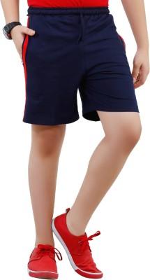 Fizzi Solid Men's Dark Blue Bermuda Shorts