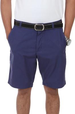 Irene Solid Men's Blue Basic Shorts