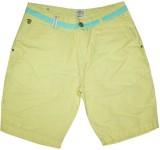 Rasonn Solid Men's Yellow Basic Shorts