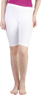 Rham Solid Women's White Basic Shorts