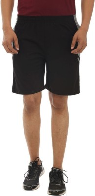 TeeMoods Solid Men's Black Sports Shorts, Basic Shorts