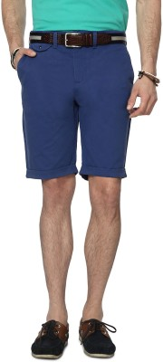 People Solid Men's Blue Denim Shorts