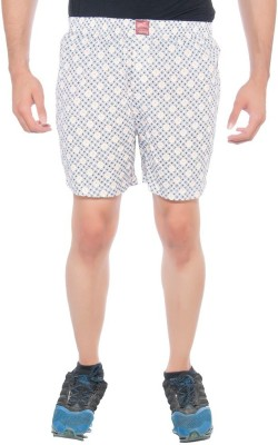 Abony Printed Men's White, Yellow Boxer Shorts