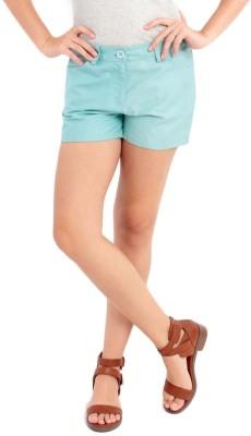 Nun Solid Women's Blue Basic Shorts
