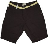 Rasonn Solid Men's Brown Basic Shorts