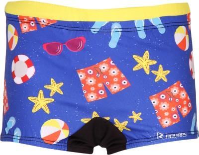 Rovars Graphic Print Boy's Multicolor Swim Shorts, Beach Shorts