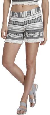 Vero Moda Printed Women's Black Basic Shorts