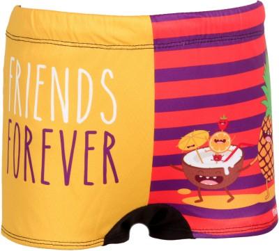 Mitushi Products Graphic Print Boy's Orange Swim Shorts
