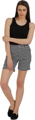 Holidae Checkered Women's Black, White Basic Shorts