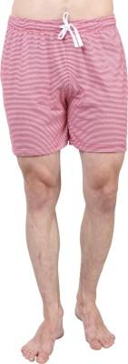 SayItLoud Striped Men's Red, White Gym Shorts