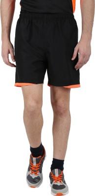 Klamotten Solid Men's Black, Orange Running Shorts
