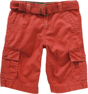 Levi's Solid Boy's Red Cargo Shorts