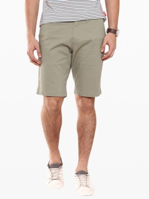 American Swan Solid Men's Green Basic Shorts