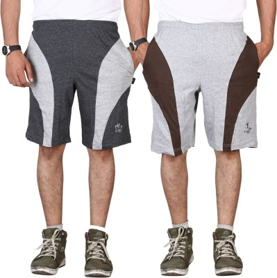 Vego Self Design Men,s Black Gym Shorts