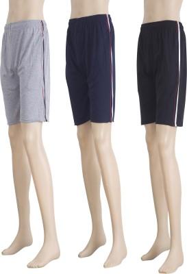 Karwan International Solid Men's Multicolor Basic Shorts