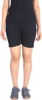 Unitedway Solid Women's Black Cycling Shorts