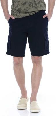 Basics Solid Men's Dark Blue Basic Shorts