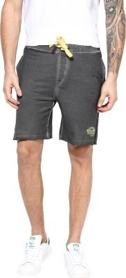 MONTEIL & MUNERO Solid Men's Grey Chino Shorts