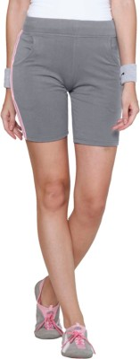 Sweet Dreams Striped Women's Grey Sports Shorts