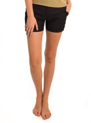 Bombay High Checkered Women's Blue Basic Shorts