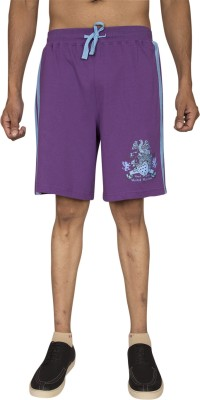 Red Line Solid Men's Purple Sports Shorts