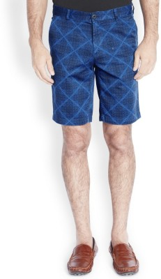 Parx Printed Men's Dark Blue Basic Shorts