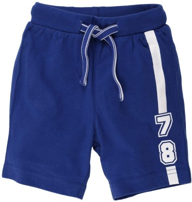 Fisher-Price Solid Baby Boy's Blue Basic Shorts