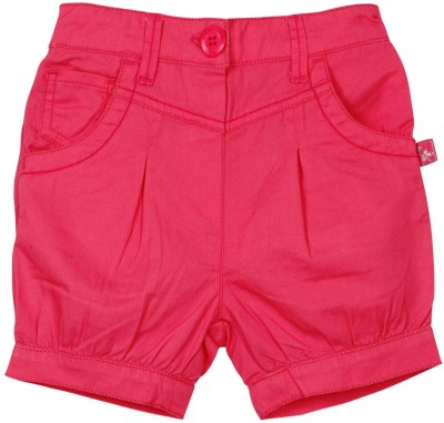 Mom & Me Solid Baby Girl's Pink Basic Shorts