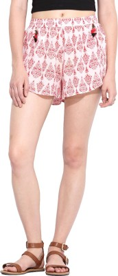 Paprika Printed Women's Red, White Culotte Shorts