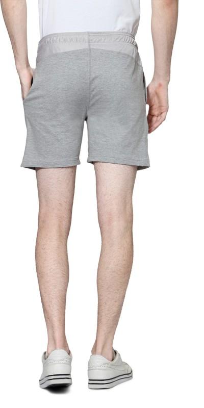 Ajile by Pantaloons Solid Men's Grey Basic Shorts
