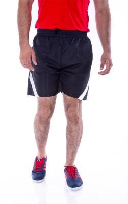 Choice4U Solid Men's Reversible Black, White Sports Shorts