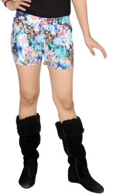 Pretty Angel Printed Women's Multicolor Basic Shorts