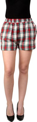 I Am For You Checkered Women's Multicolor Basic Shorts