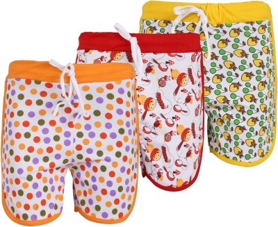 WEECARE Printed Girl's Red, Yellow, Orange Hotpants