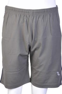 Proxim Solid Men's Grey Sports Shorts