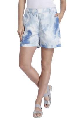 Vero Moda Printed Women's White Denim Shorts