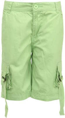 Bells and Whistles Solid Baby Boy's Green Cargo Shorts
