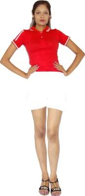 E2G Solid Women's White Hotpants