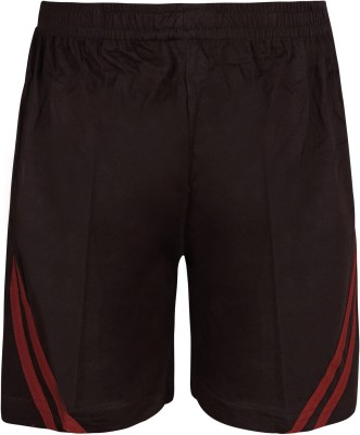 Jazzup Solid Boy's Brown Basic Shorts
