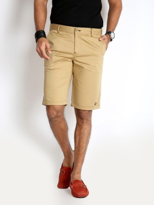 Rodid Solid Men's Beige Basic Shorts