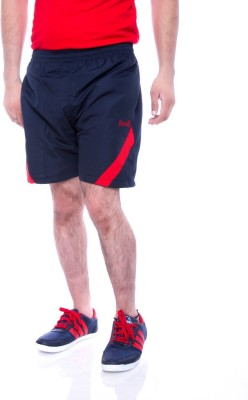 Choice4U Solid Men's Dark Blue, Red Sports Shorts