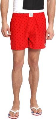 Zovi Printed Men's Red Boxer Shorts