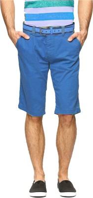 Goodkarma Solid Men's Blue Chino Shorts